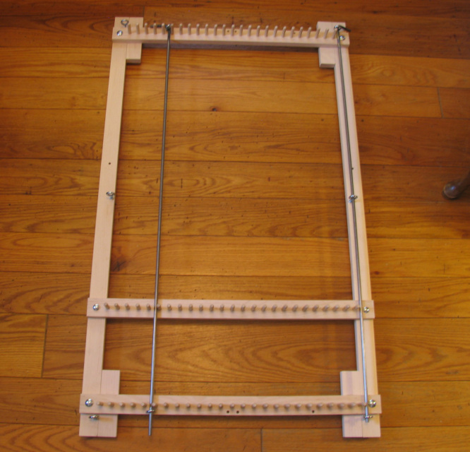 Adjustable Twining Loom For Rugs Place Mats Or Table